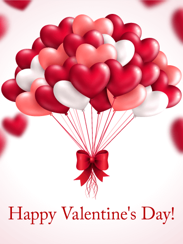 Heart Balloon Happy Valentine's Day Card.png