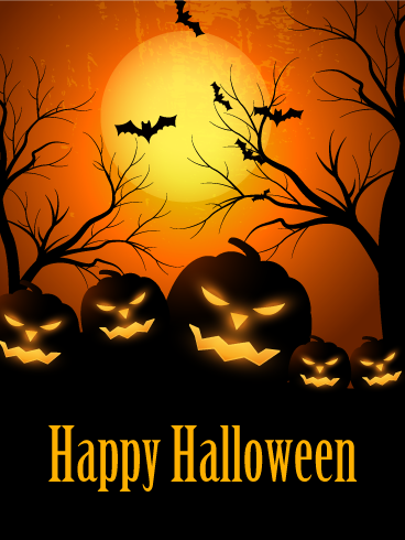 Spooky Smile Halloween Pumpkin Card